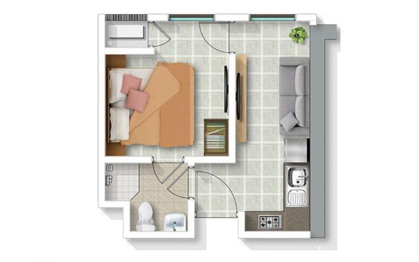 Riverdale Apartment Tipe 1 Bed Room